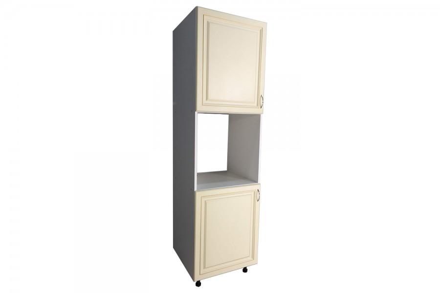 Шкаф под духовку 2 двери 600/2130/590 Калифорния бежевая с патиной