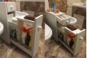 Органайзер для туалета или ванной. Белый матовый.