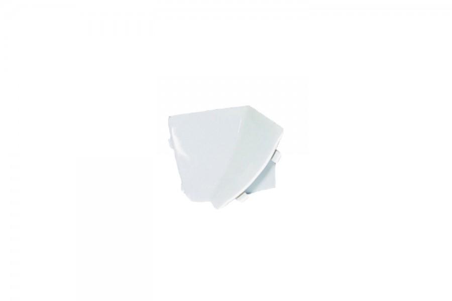 Внутренний угол плинтуса кухонного белый